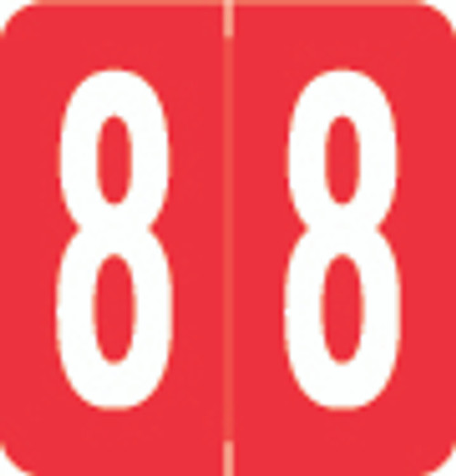 VRE/GBS Numeric Label - 8860 Series (Rolls) - 8 - Red