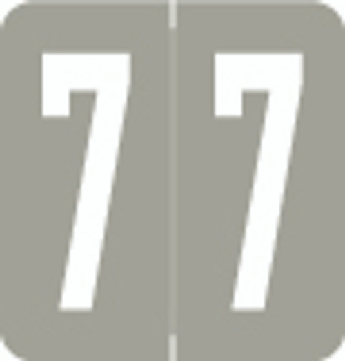 VRE/GBS Numeric Label - 8860 Series (Rolls) - 7 - Gray