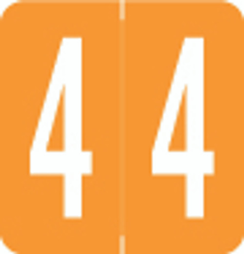 VRE/GBS Numeric Label - 8860 Series (Rolls) - 4 - Orange