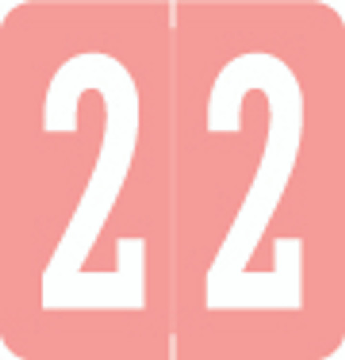 VRE/GBS Numeric Label - 8860 Series (Rolls) - 2 - Pink