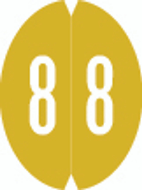 VRE/GBS Numeric Label - 8857 Series (Rolls) - 8 - Gold