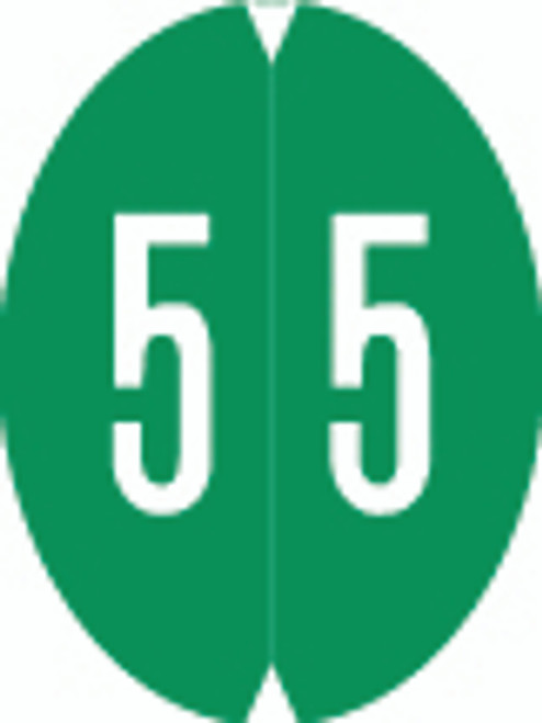VRE/GBS Numeric Label - 8857 Series (Rolls) - 5 - Green