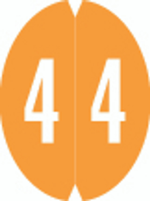 VRE/GBS Numeric Label - 8857 Series (Rolls) - 4 - Orange