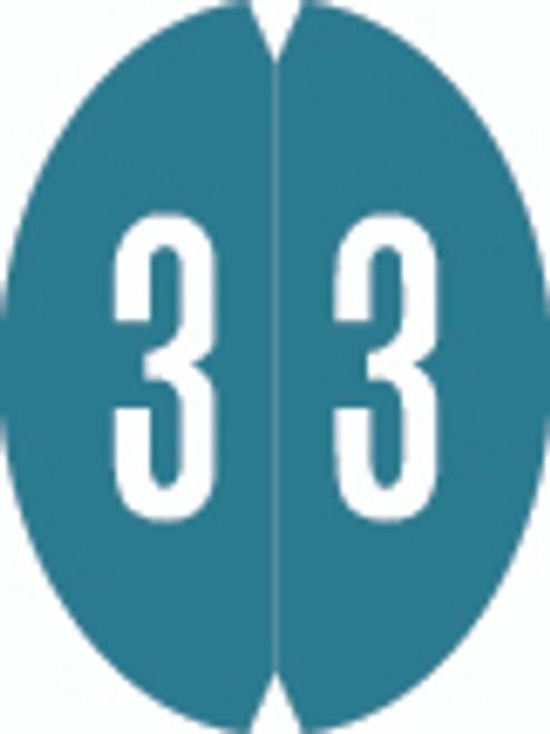 VRE/GBS Numeric Label - 8857 Series (Rolls) - 3 - Aqua