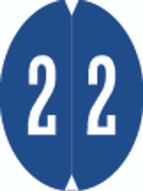 VRE/GBS Numeric Label - 8857 Series (Rolls) - 2 - Dk. Blue