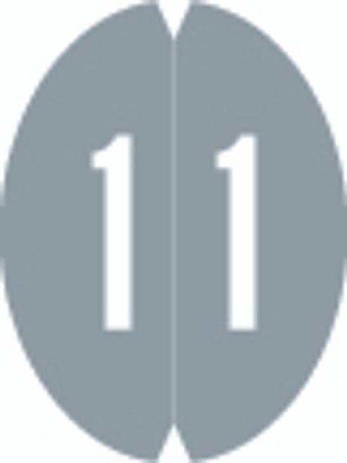 VRE/GBS Numeric Label - 8857 Series (Rolls) - 1 - Gray