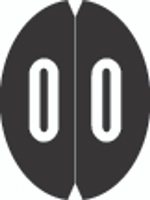 VRE/GBS Numeric Label - 8857 Series (Rolls) - 0 - Black