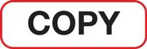 Copy Label - Non-Laminted - Black Print W/ Red Border