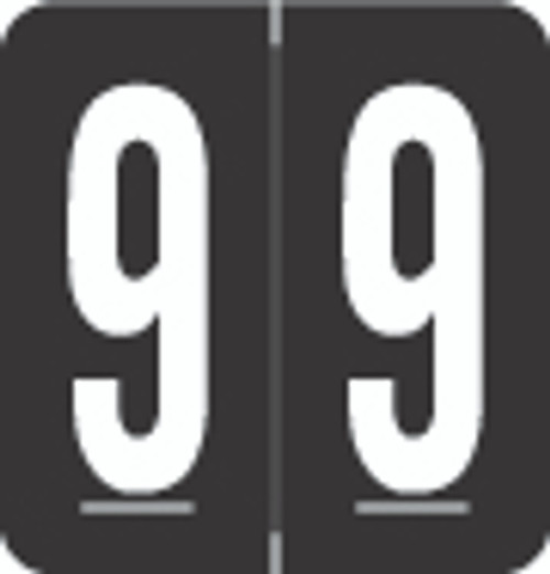 VRE/GBS Numeric Label - 8860 Series (Rolls) - 9 - Black