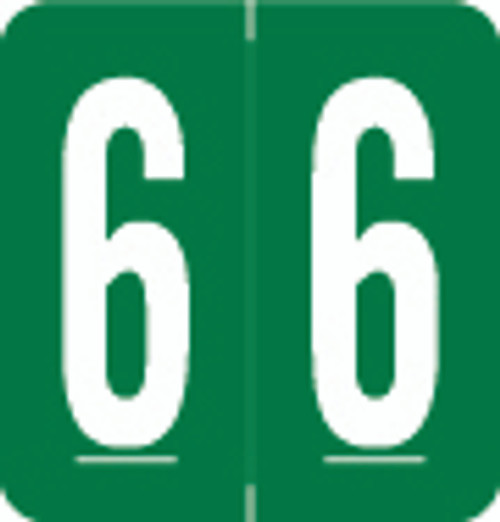 VRE/GBS Numeric Label - 8860 Series (Rolls) - 6 - Green