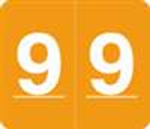 V.A. Hospital/Barkley Systems Numeric Label - FNVAM Series (Rolls) - 9 - Orange