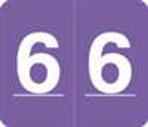 V.A. Hospital/Barkley Systems Numeric Label - FNVAM Series (Rolls) - 6 - Purple