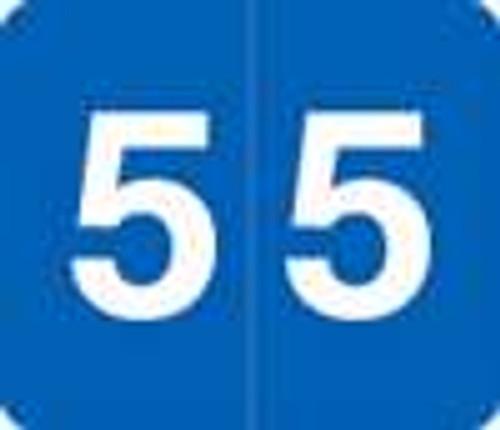 V.A. Hospital/Barkley Systems Numeric Label - FNVAM Series (Rolls) - 5 - Blue