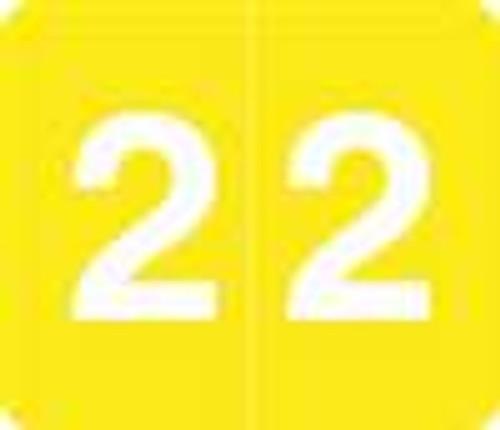 V.A. Hospital/Barkley Systems Numeric Label - FNVAM Series (Rolls) - 2 - Yellow