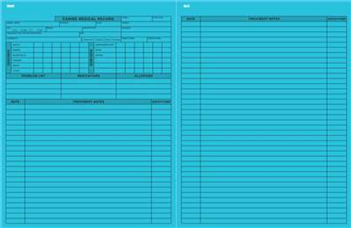 """Canine Medical Records Blue 8-1/2""""x11"""""""