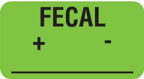 "Fecal + - 1-5/8""x7/8"" Fl-Green"