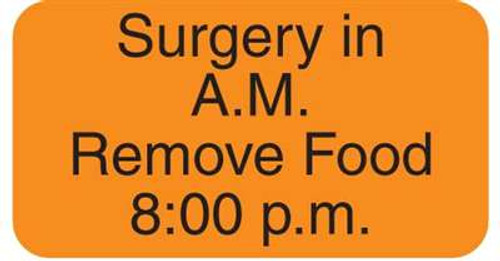 "Surgery in A.M. 1-5/8""x7/8"" Fl-Orange"
