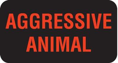 "Aggressive Animal 1-5/8""x7/8"" Black Fl-Red Print"