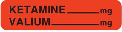 """Ketamine/Valium 1-1/4""""x5/16"""" Fl-Red"""