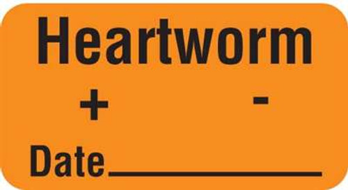 "Heartworm + - Date 1-5/8""x7/8"" Fl-Orange"