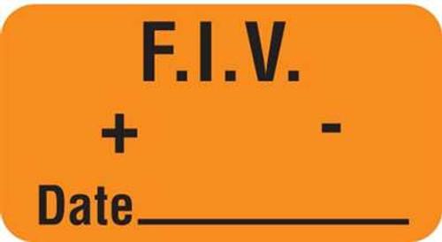 "F.I.V. + - Date 1-5/8""x7/8"" Fl-Orange"