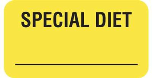 "Special Diet 1-5/8""x7/8"" Fl-Yellow"