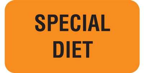 "Special Diet 1-5/8""x7/8"" Fl-Orange"