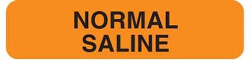 """Normal Saline 1-1/4""""x5/16"""" Fl-Orange"""