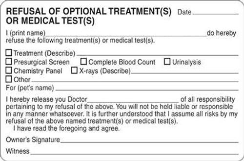 "Refusal Optional Treatments 4""x2-5/8"" White"