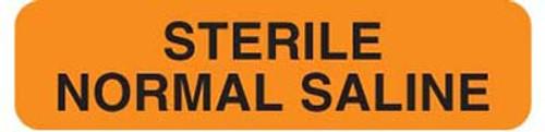 "Sterile Normal Saline 1-1/4""x5/16"" Fl-Orange"
