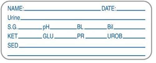 "Name/Date/Urine 2-1/4""x7/8"" White"