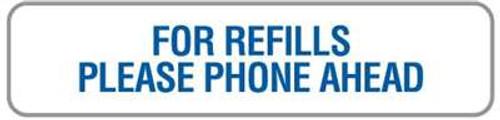 """Refills Phone Ahead 1-5/8""""x3/8"""" White/Blue"""