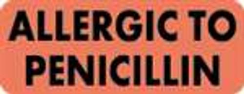 Allergic To Penicillin Label 2