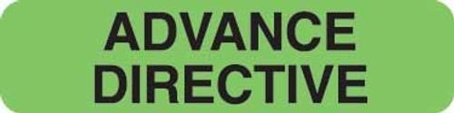 """Advance Directive"" Label - Fl. Green - 1-1/4"" x 5/16"" - 500 Labels/Box"