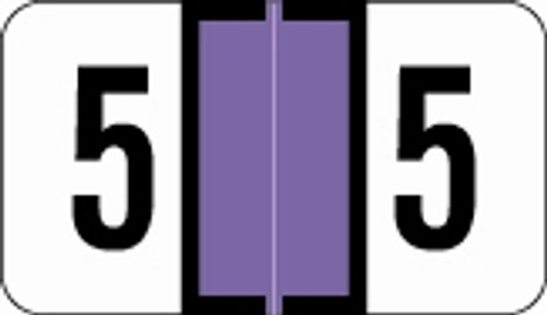 Traco Numeric Labels - TRNM Series (Rolls) - 5 - Purple