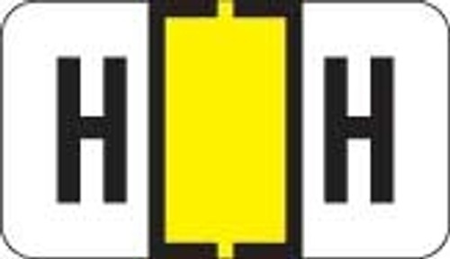 Traco Alphabetic Labels - TRAM Series (Rolls) - H - Yellow & Black