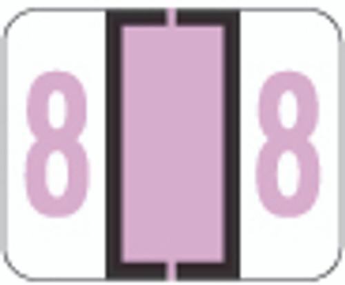 TAB Numeric Label  - TPNV Series (Rolls) - 8 - Lilac