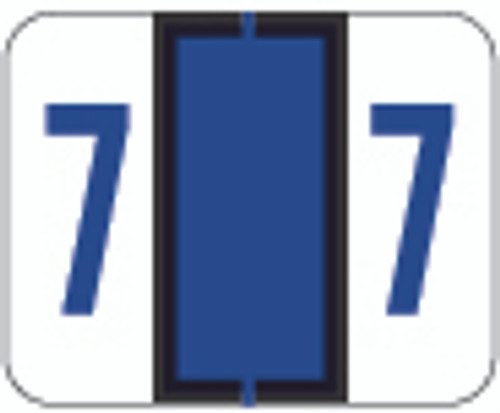 TAB Numeric Label  - TPNV Series (Rolls) - 7 - Purple