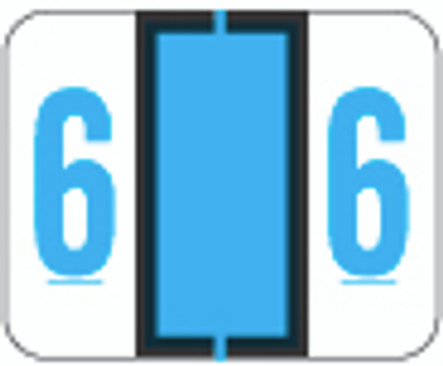 TAB Numeric Label  - TPNV Series (Rolls) - 6 - Blue