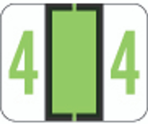 TAB Numeric Label  - TPNV Series (Rolls) - 4 - Green
