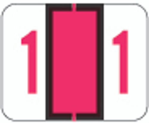 TAB Numeric Label  - TPNV Series (Rolls) - 1 - Red
