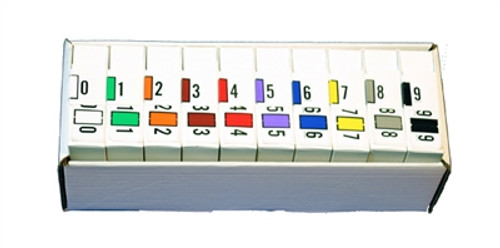 Traco Numeric Labels - TRNM Series (Rolls) - Complete Set 0-9