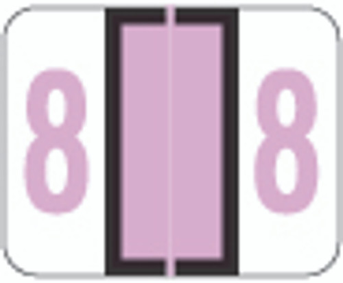 Smead Numeric Label - BCCRN Series (Rolls) - 8 - Lilac