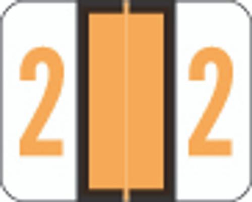 Smead Numeric Label - BCCRN Series (Rolls) - 2 - Fl. Orange