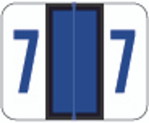 Smead Numeric Label - BCCRN Series (Rolls) - 7 - Purple