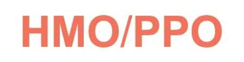 """""""HMO/PPO"""" Label - White/Red - 1 1/4"""" x 5/16"""" - Box of 500"""