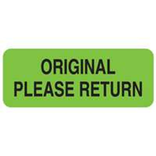 Original Return Please Label