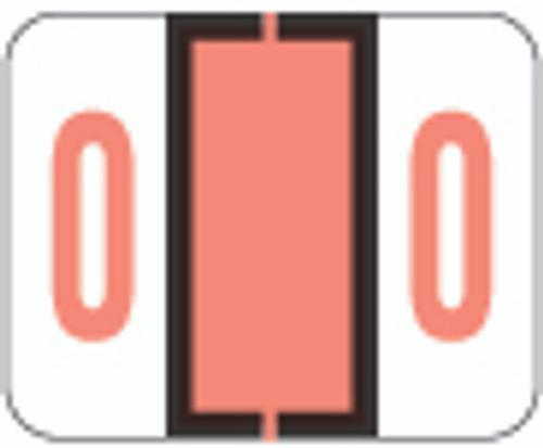 TAB Numeric Label  - TPNV Series (Rolls) - 0 - Pink