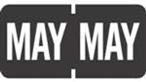 TAB Month Labels - TMLV Series (Rolls) - May/Black