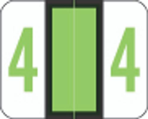 Smead Numeric Label - BCCRN Series (Rolls) - 4 - Fl. Green